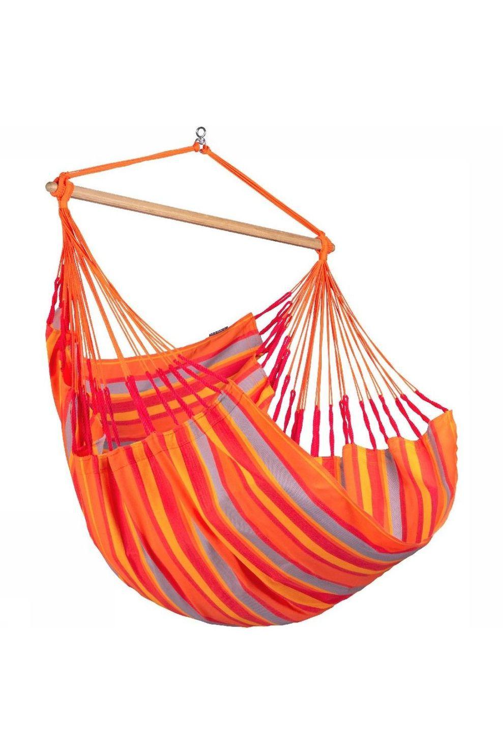 La Siesta Hangmat Domingo Hammock Chair - Rood/Oranje