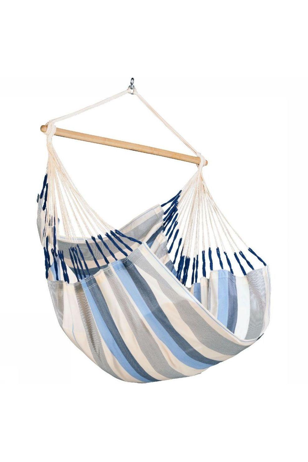La Siesta Hangmat Domingo Hammock Chair - Blauw/Wit