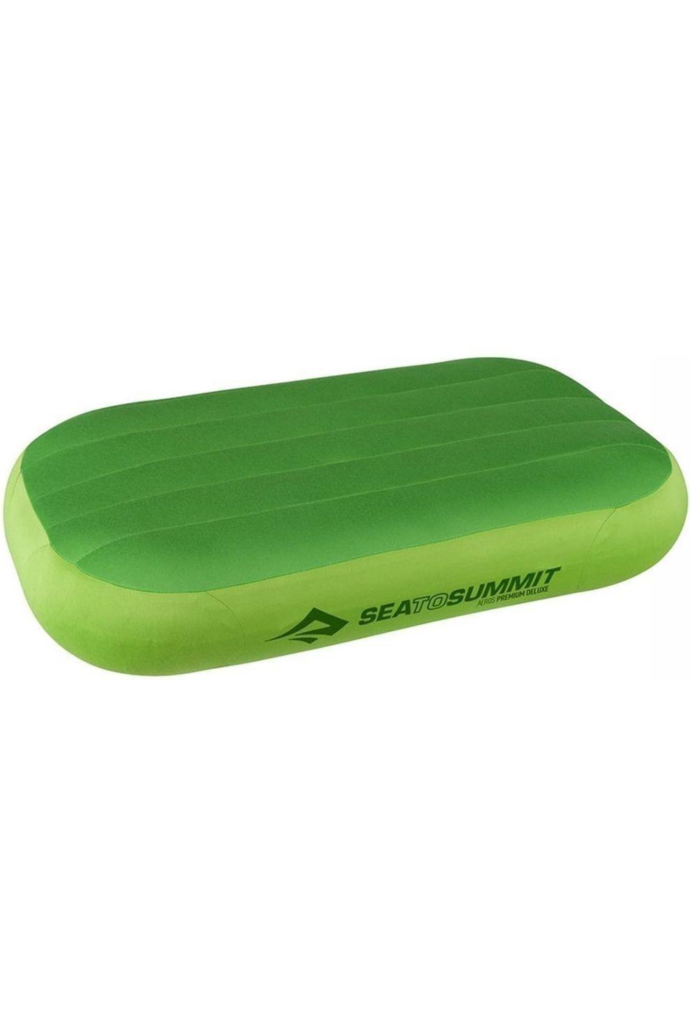 Sea To Summit Kussen Aeros Premium Deluxe Pillow - Limoen Groen