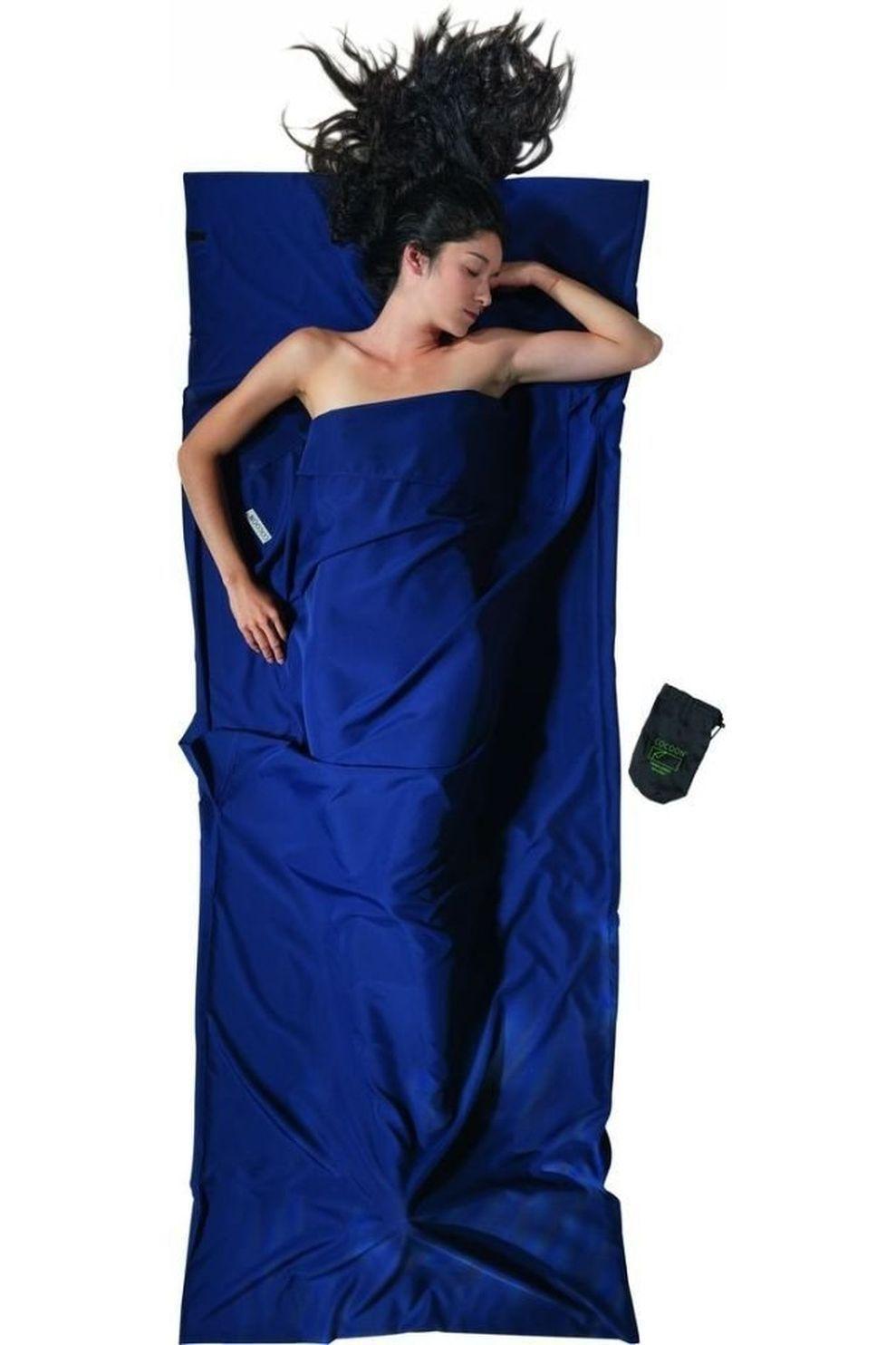 Cocoon Lakenzak Travelsheet Microfiber - Blauw