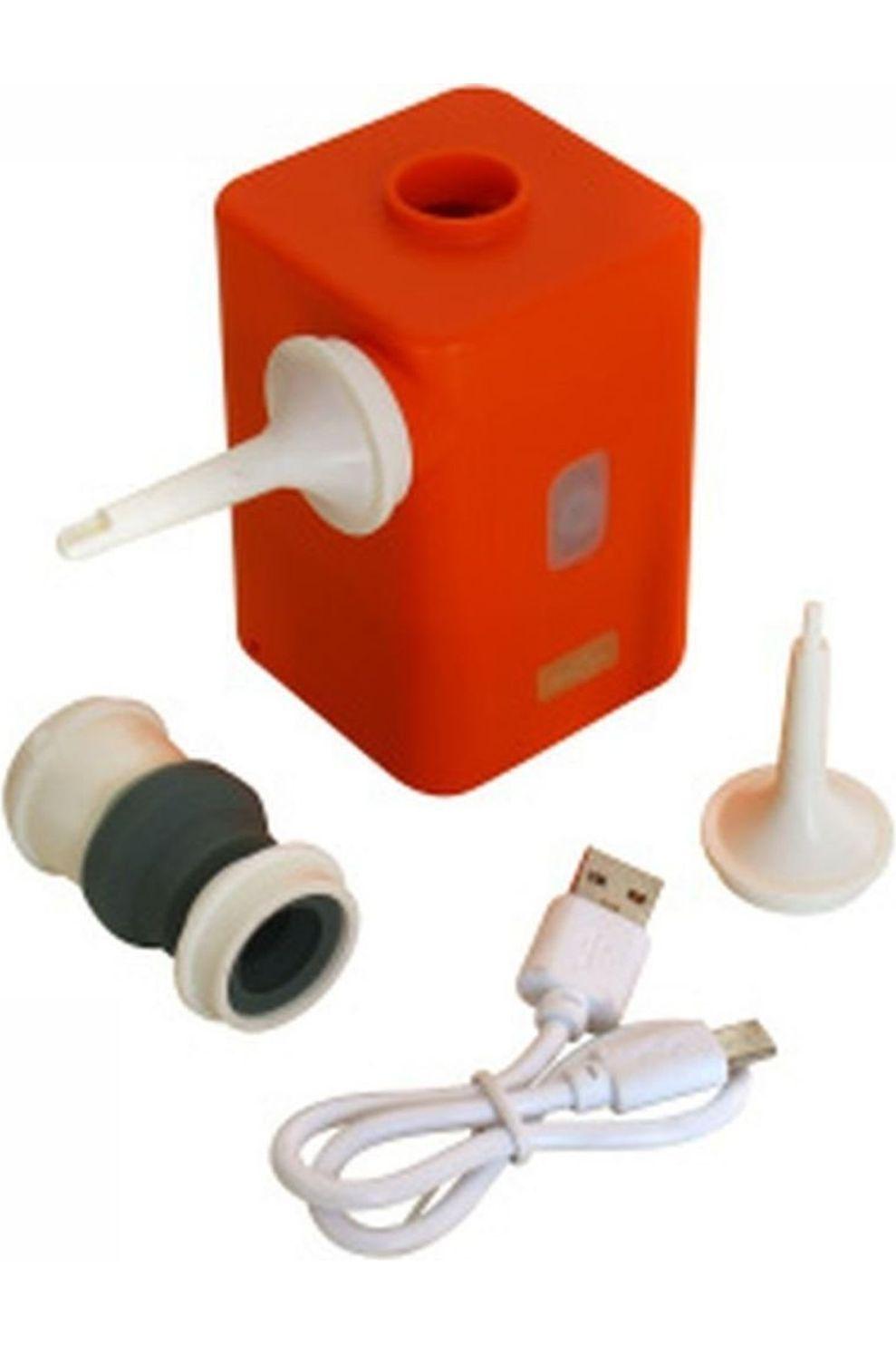 Human Comfort Pomp Lichtgewicht USB Pomp Met Batterij - Oranje/Wit