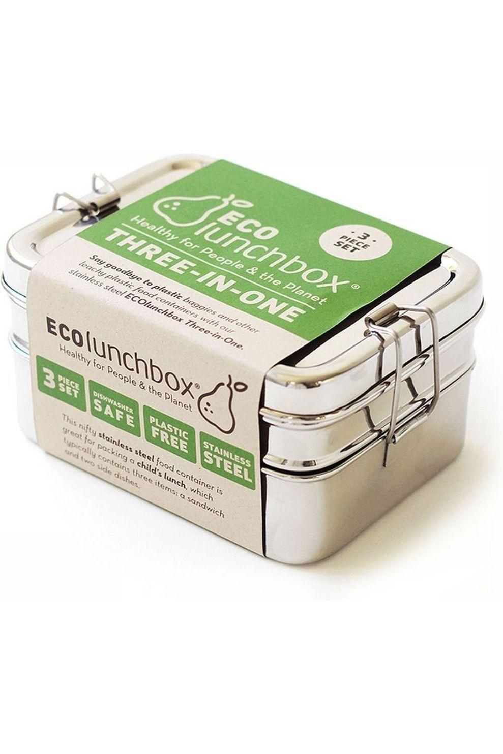 Ecolunchbox 3-delige Lunchset - Grijs