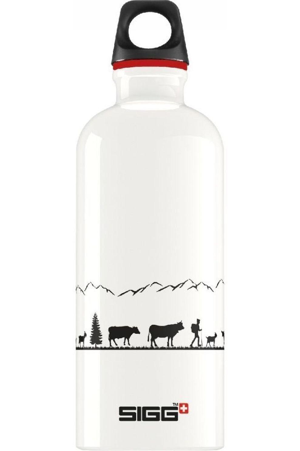 Sigg Drinkfles Swiss Craft 0.6L - Wit/Zwart