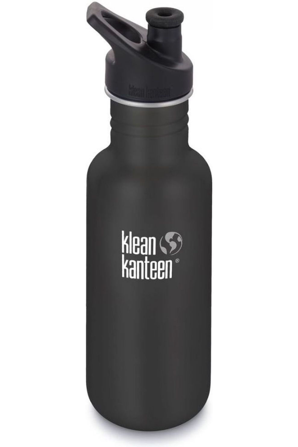 Klean Kanteen Drinkfles Classic Single Wall 18Oz 532Ml Sport - Zwart