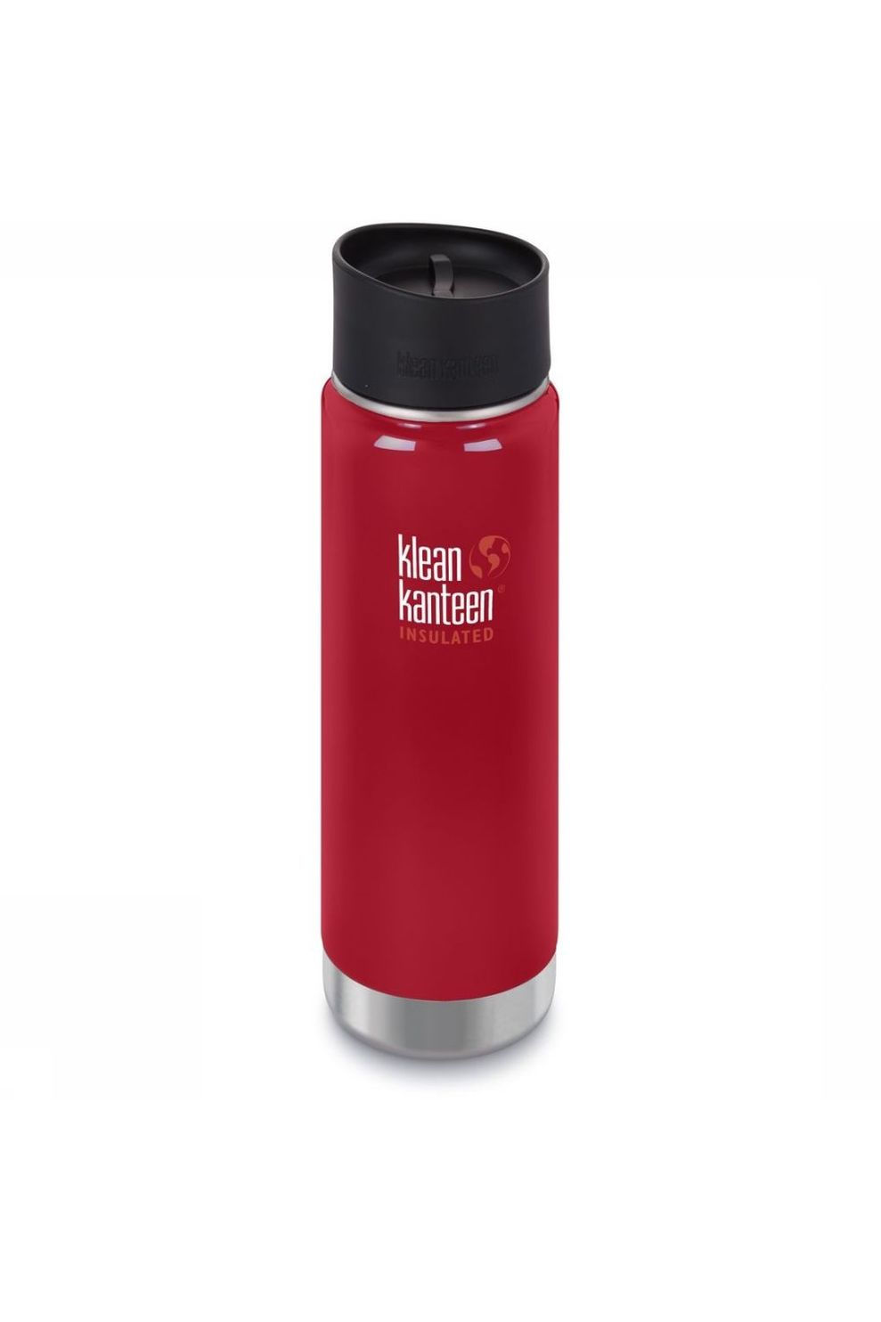 Klean Kanteen Isolatiefles Wide Vacuum Insulated 20Oz 592Ml Cafe Cap 2.0 - Rood