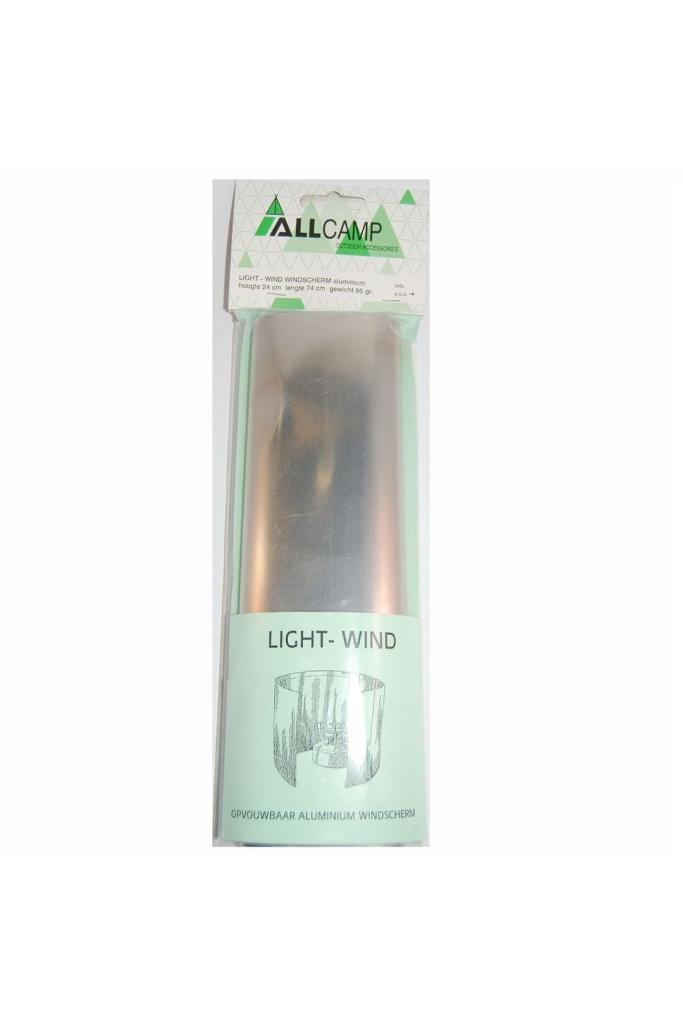 Alldek Windscherm Light 24 x 74 cm - - Transparant