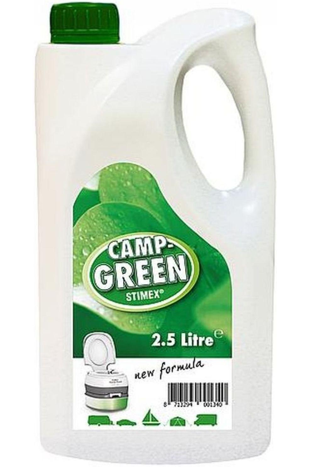 Stimex Toilet Camp Green 2.5 L - - Transparant