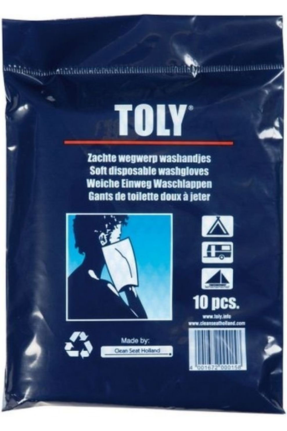 Toly Wegwerp-washandjes (10 st) - / Transparant
