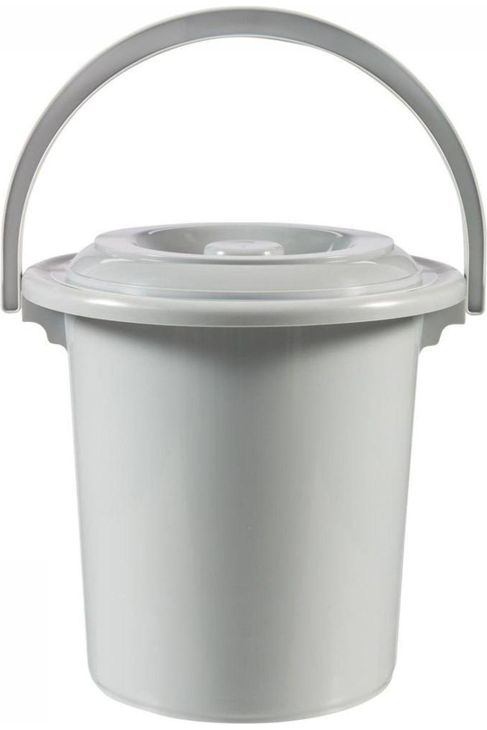Curver Toilet Acc Toiletemmer Met Deksel 10 Liter - Grijs