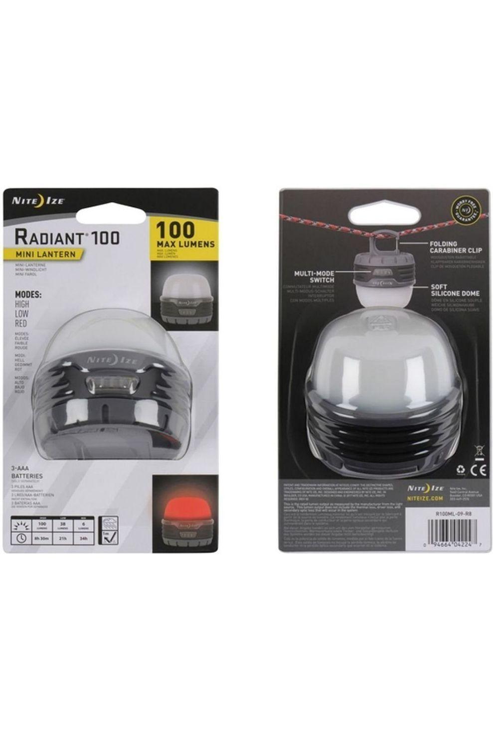 Nite Ize Verlichting Radiant 100 Mini Lantern - / Transparant