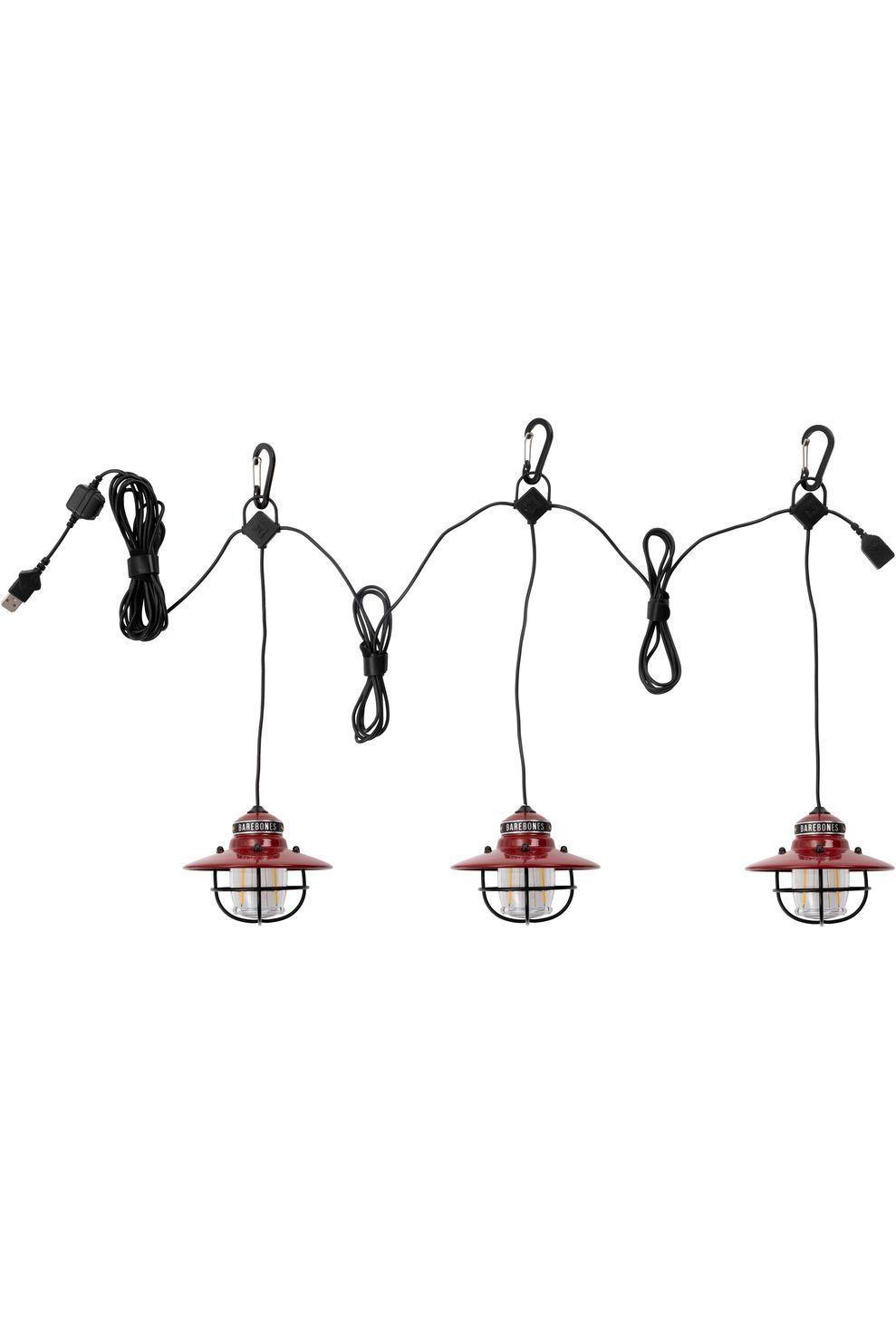 Barebones Living Verlichting Edison String Lights 3 Pack - Rood