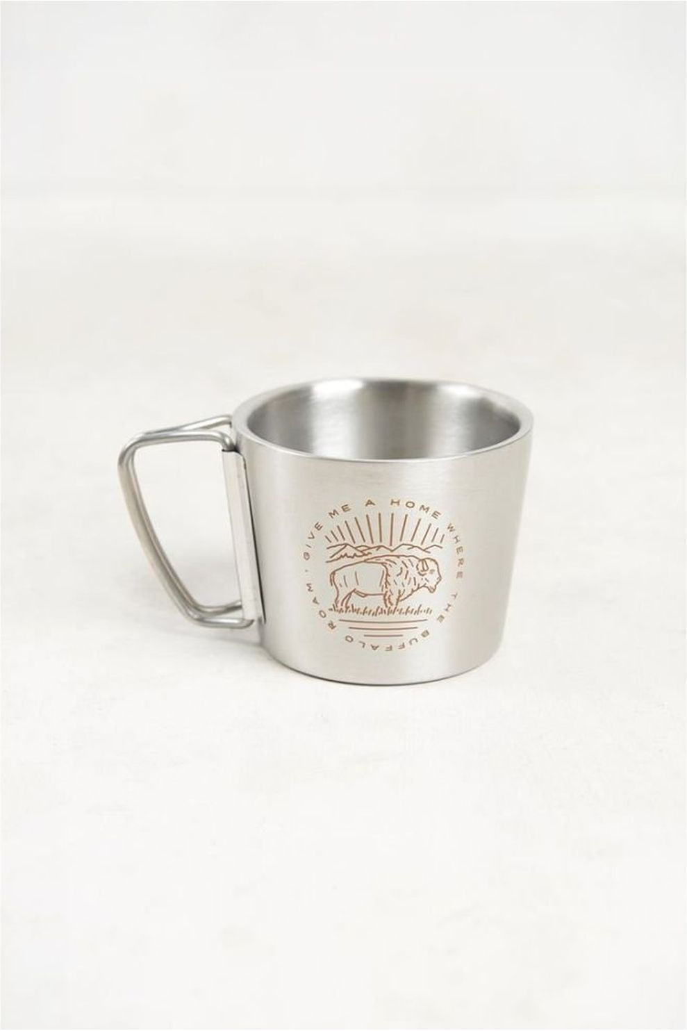 United by Blue Buffalo Roam 12Oz Stainless Steel Compass Cup - Grijs