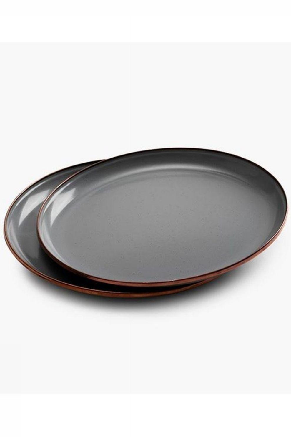 Barebones Living Plate Emaille 2Pcs - Grijs