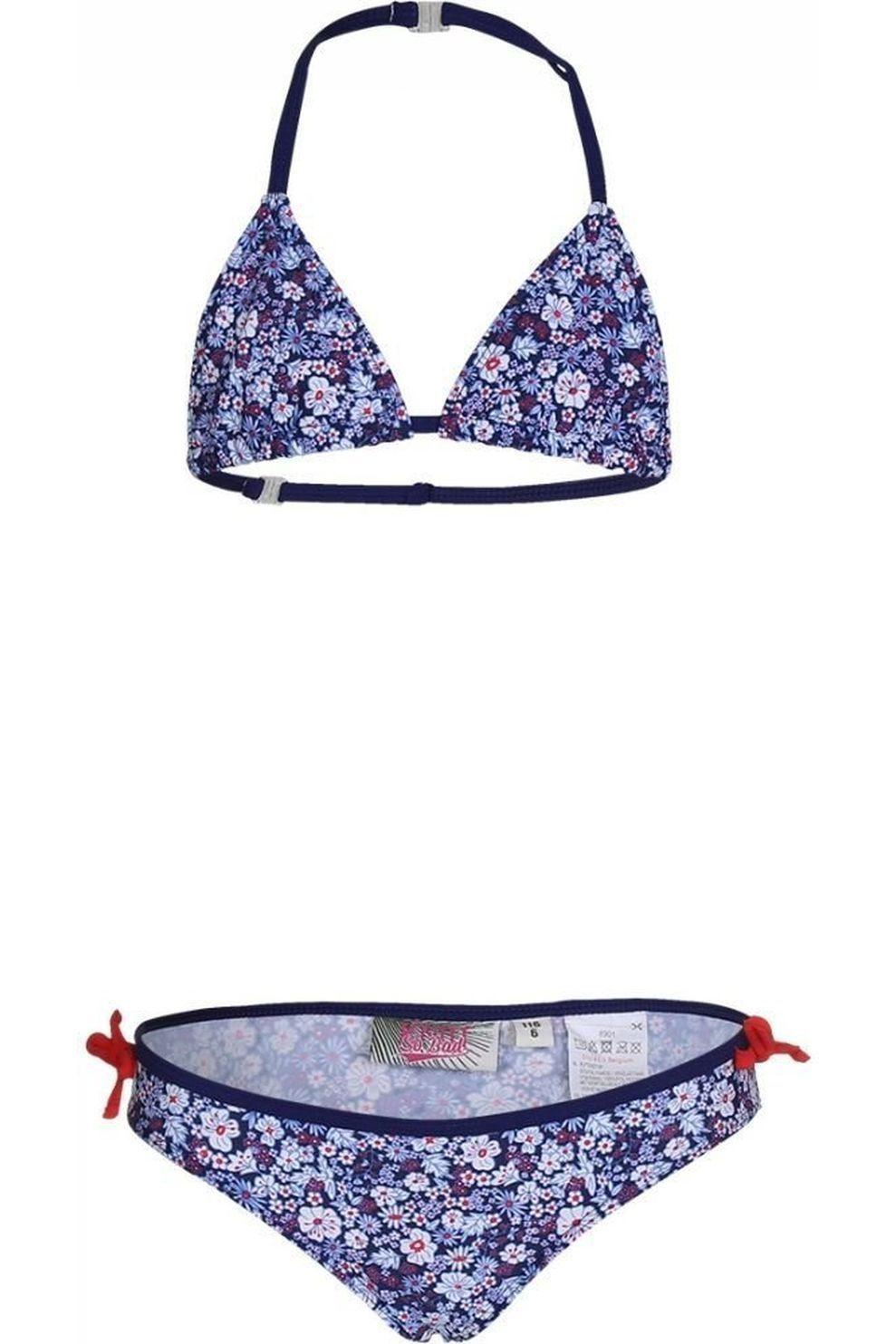 Knot so bad Bikini Liberty Aop voor meisjes - Blauw - Maten: 104, 110, 116