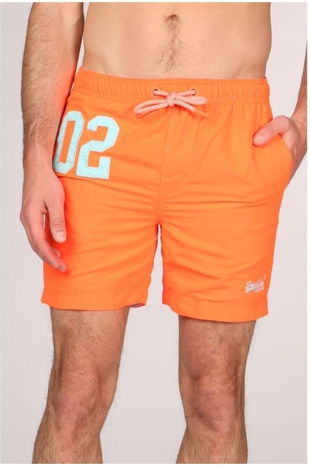Superdry Zwemshort Water Polo voor heren - Oranje - Maat: M