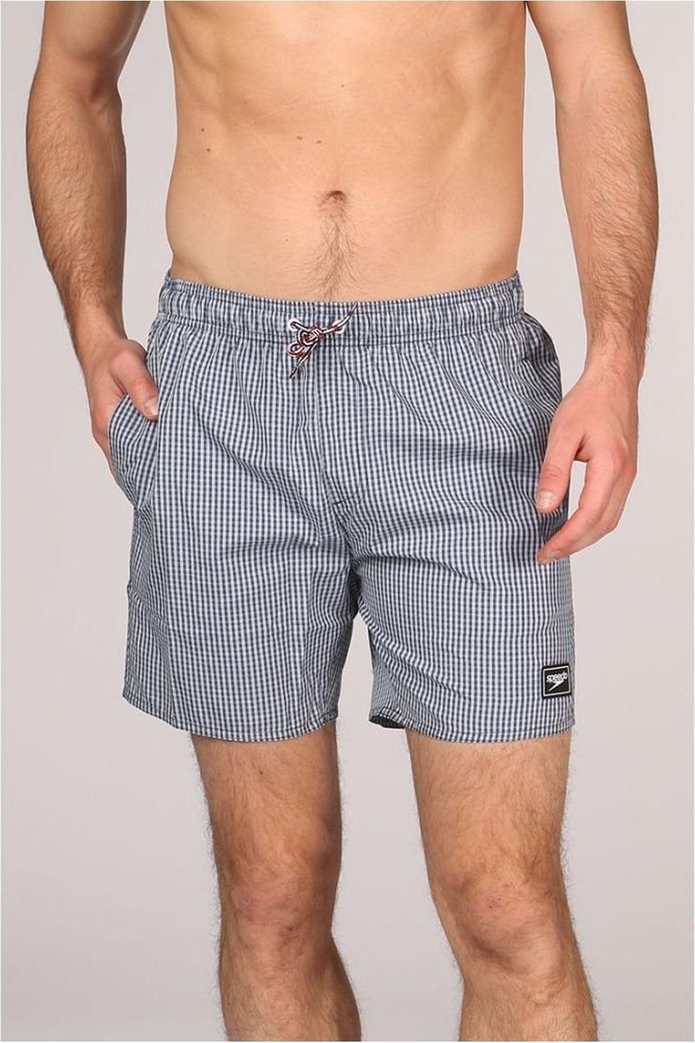 Speedo Zwemshort Stripe Leisure voor heren - Blauw/Wit - Maten: S, XL