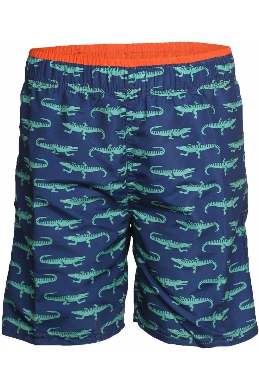 Knot so bad Zwemshort Crocodile voor jongens - Blauw/Groen - Maat: 152