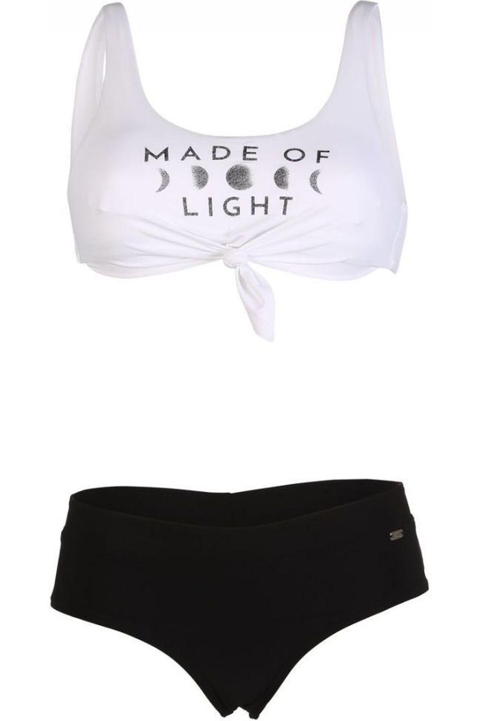Banana Moon Bikini Nouo Moonlight+Bia Beachbabe voor meisjes - Wit/Zwart - Maten: XXS, L