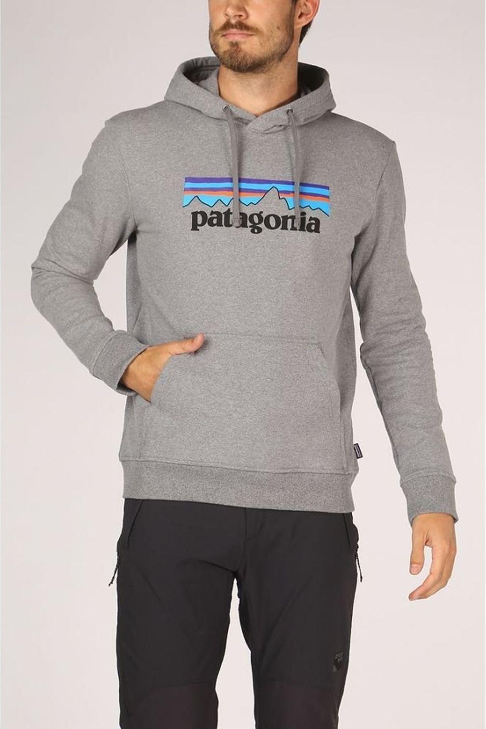 Patagonia Trui P6 Label Uprisal Hoody voor heren - Grijs - Maten: XS, S, M, XL