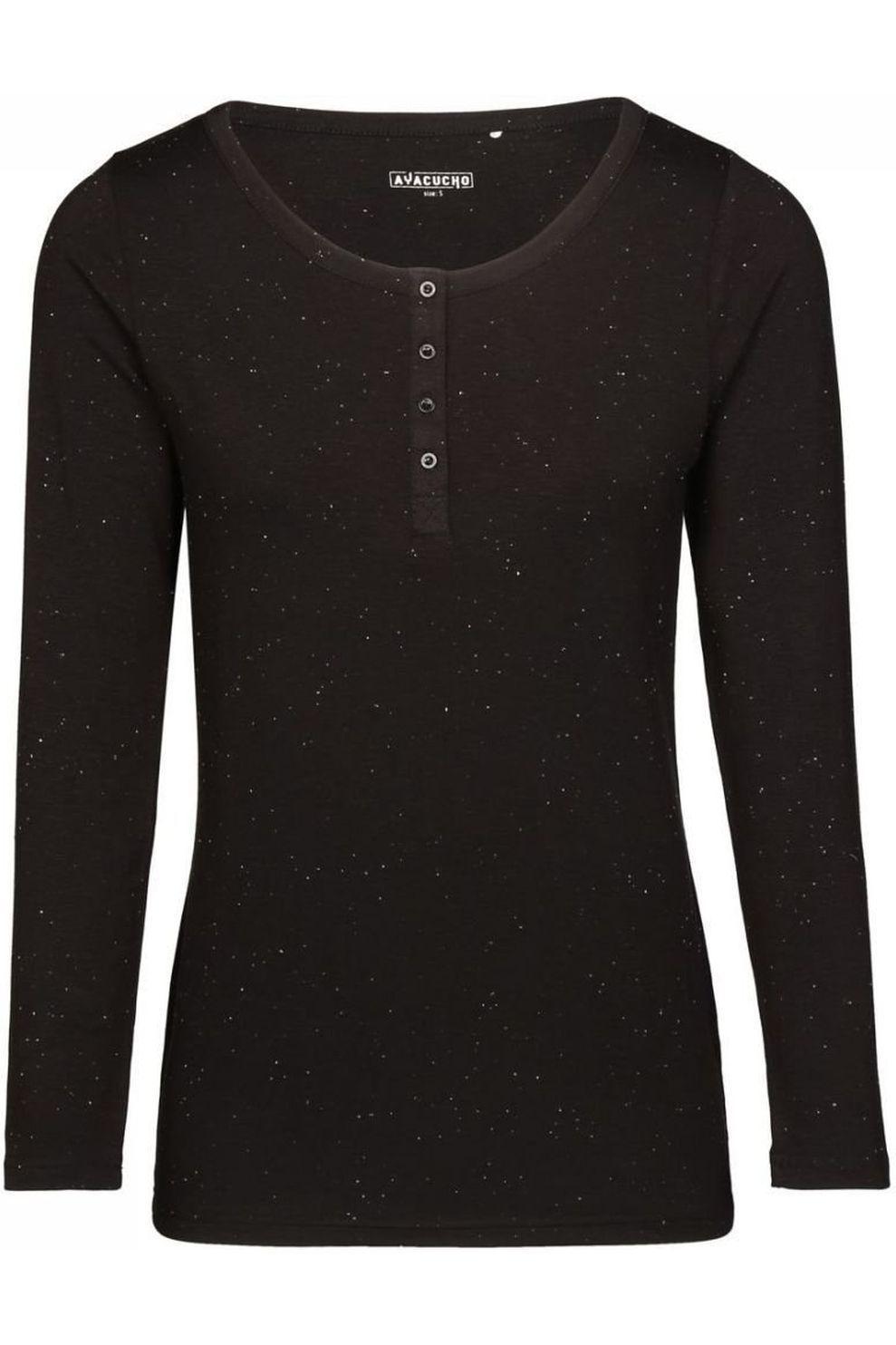 Ayacucho T-Shirt Dragonfly Ls Neppy Am voor dames - Zwart - Maten: XS, S, M, L, XL