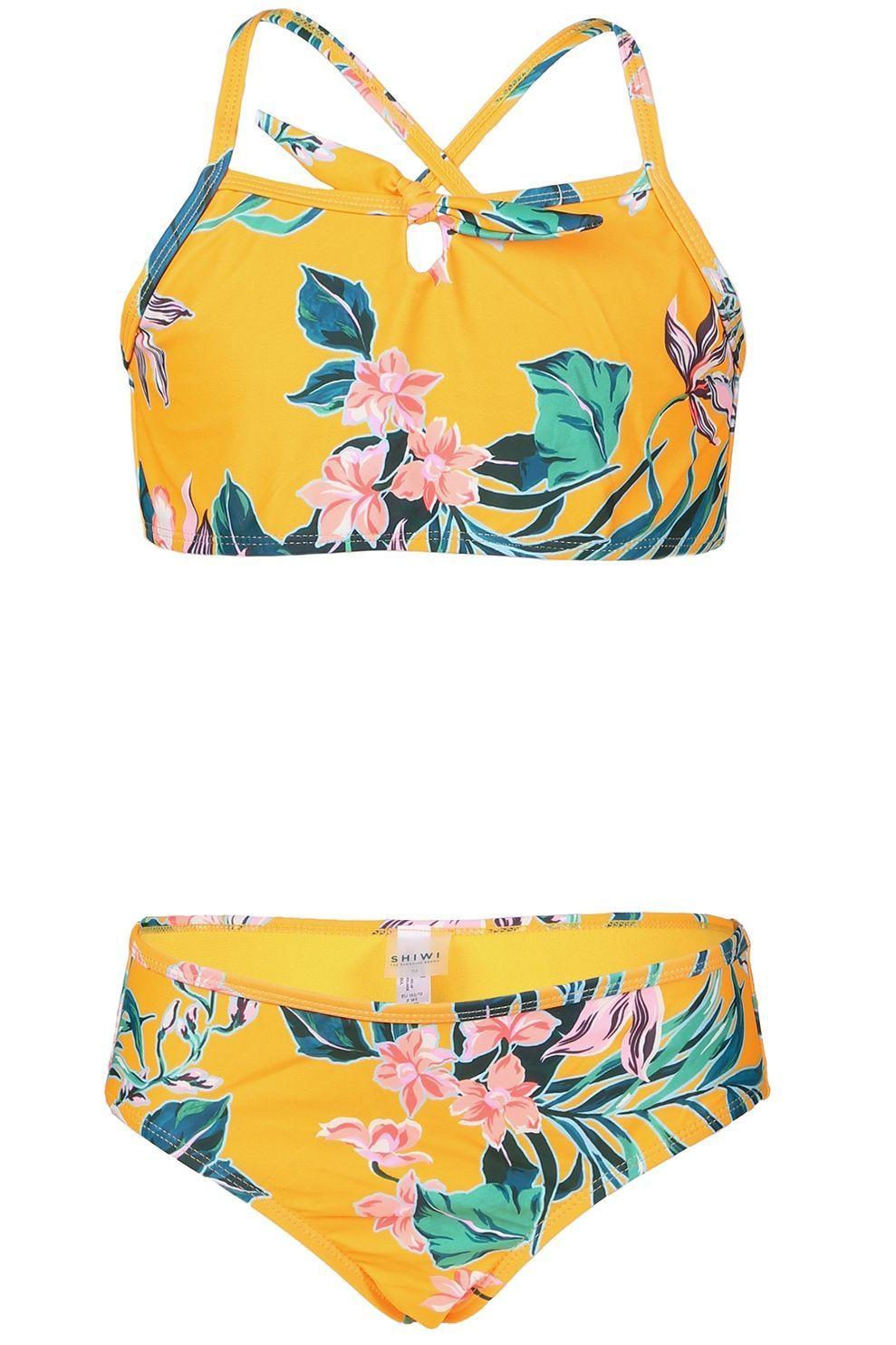 Shiwi Bikini Waikiki Scoop With Bow & Hipster voor meisjes - Oranje - Maten: 164, 176