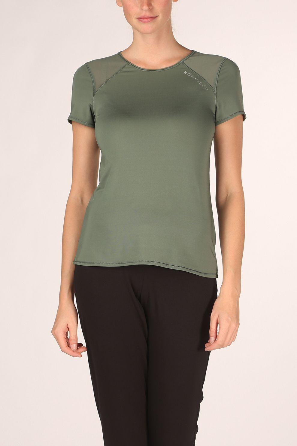 Röhnisch T-Shirt Asta Mesh Tee voor dames - Groen - Maat: L