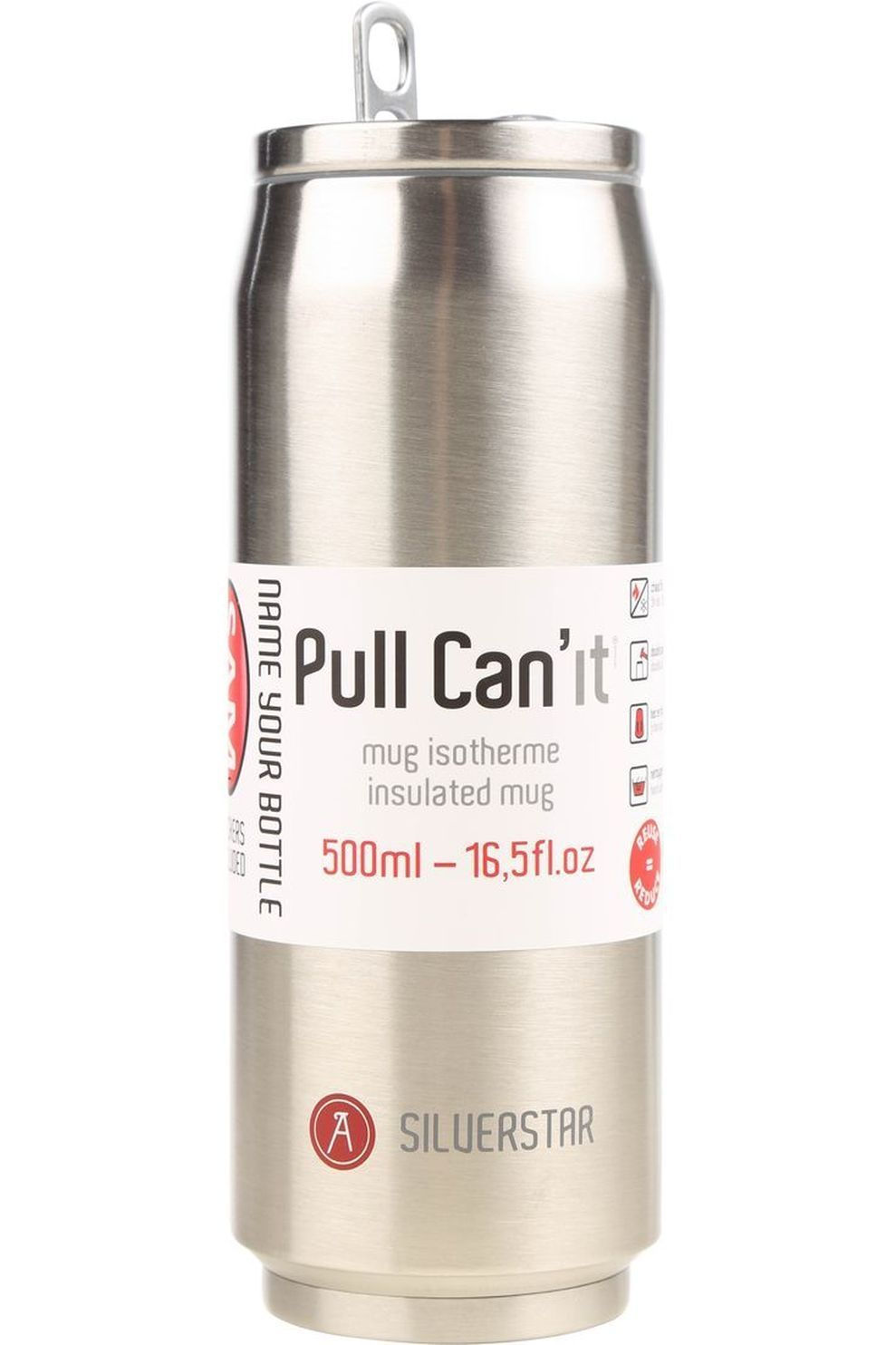 Les Artistes Pull Can'It Isotherm 500ml - Grijs