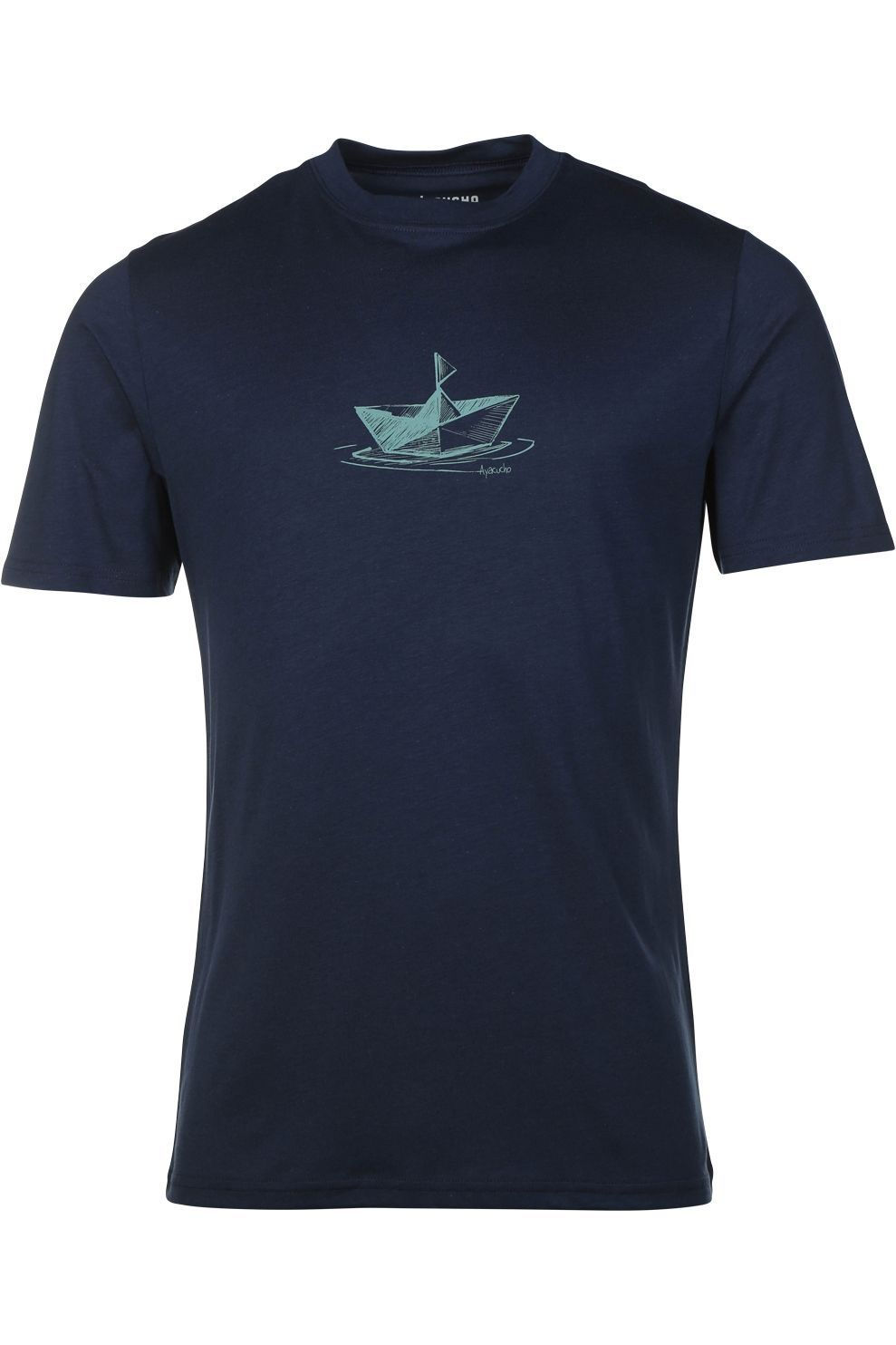 Ayacucho T-Shirt Paper Boat voor heren - Blauw - Maten: S, M, L, XL, XXL