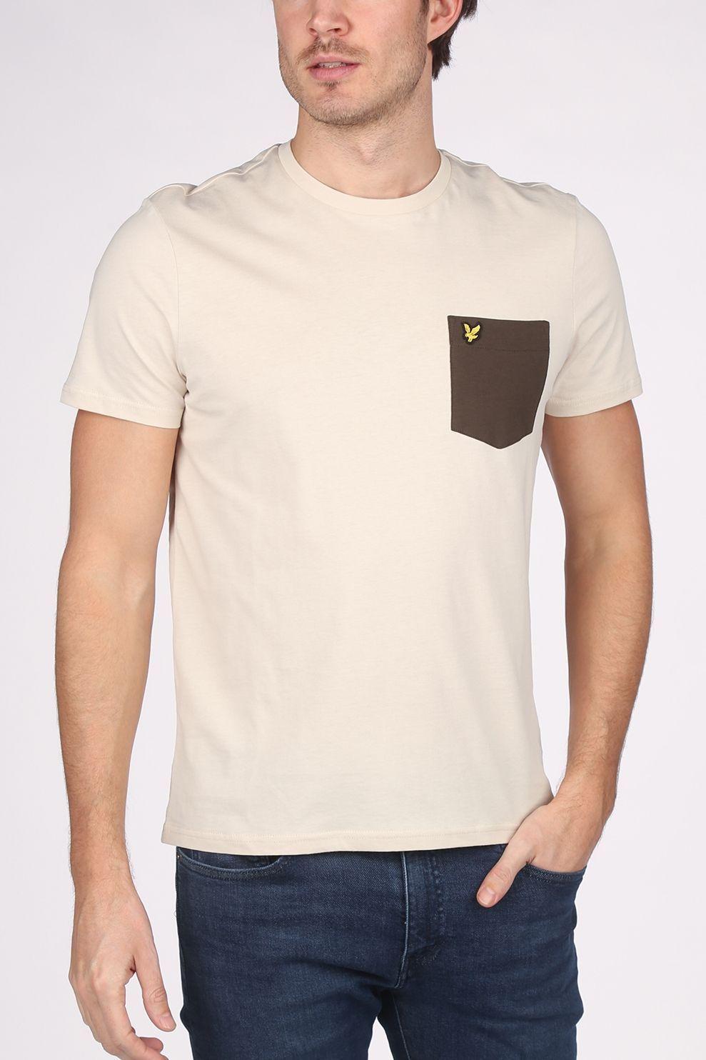 Lyle & Scott T-Shirt Ts831 voor heren - Bruin/DonkerGroen - Maten: XS, S, M, L, XL