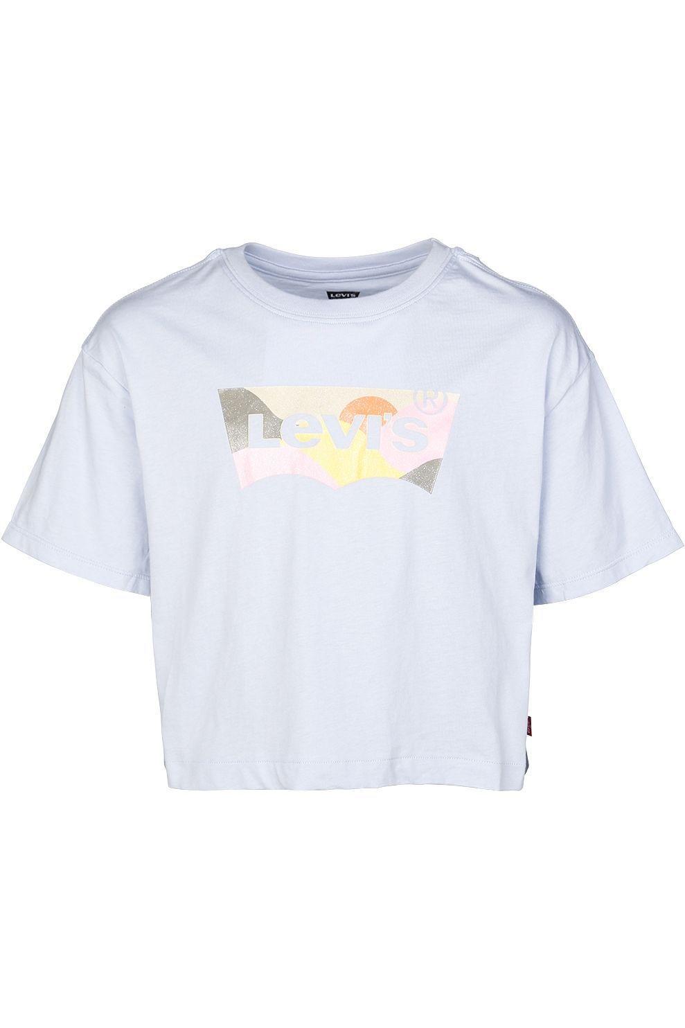 Levi's T-Shirt Lvg High Rise voor meisjes - Blauw - Maten: 10, 12, 14, 16