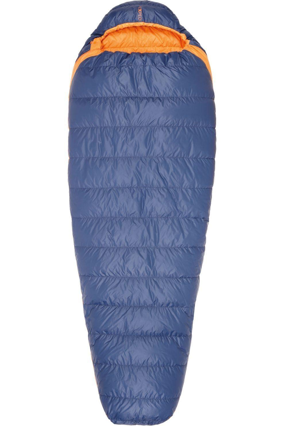 Exped Slaapzak Comfort -5° L - Blauw/Oranje - Maat: LEFT