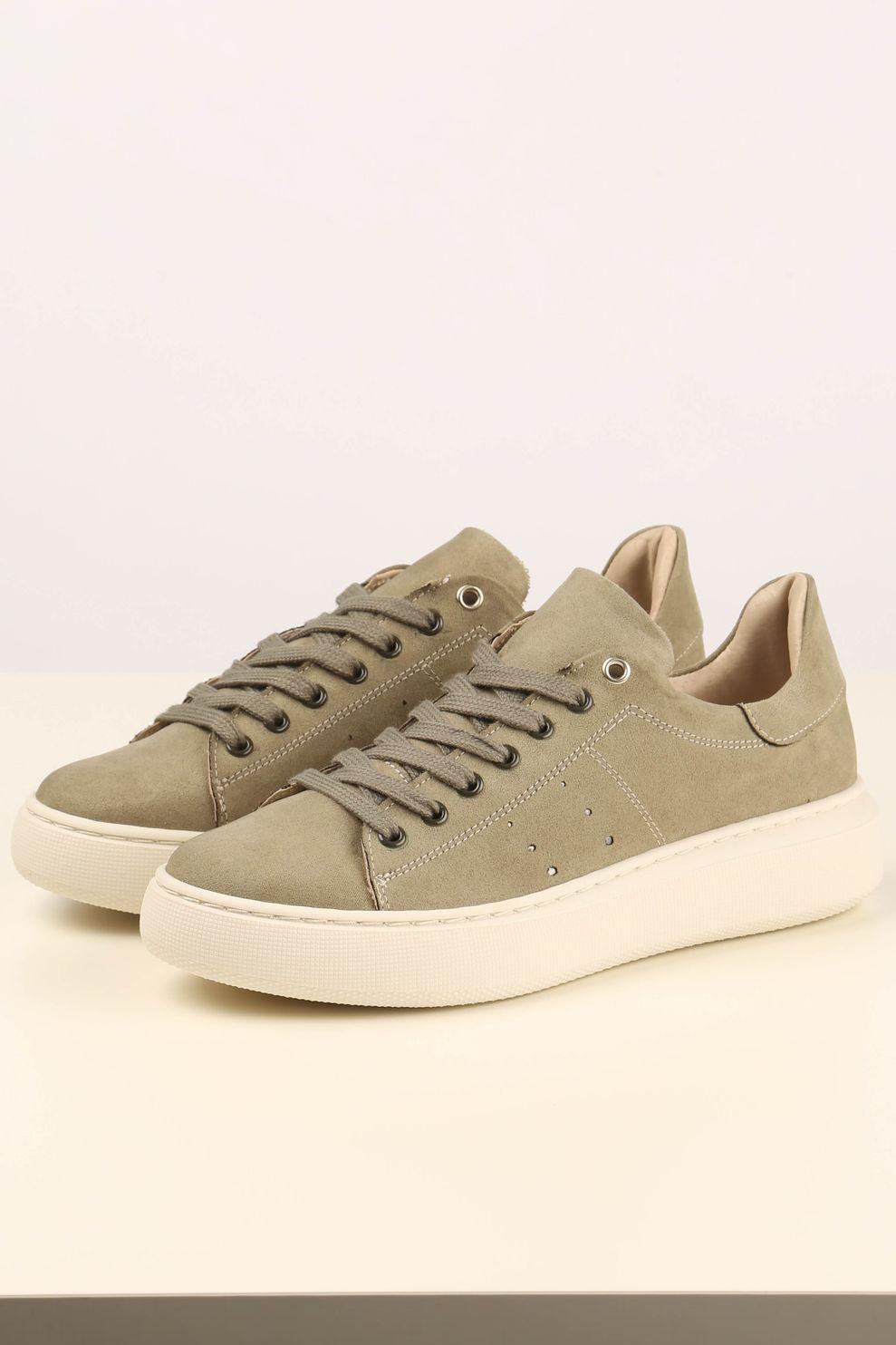 Tango Shoes Sneaker Ingeborg 1-ZD voor dames - MiddenGroen - Maten: 36, 37, 38, 39, 40, 41