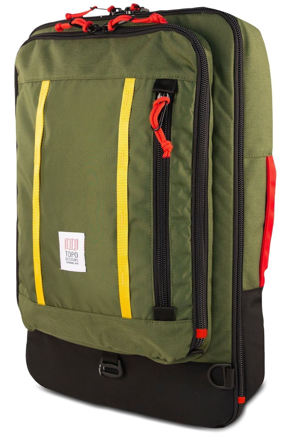 Topo Designs Travelpack Travel Bag 40L - Groen/Rood