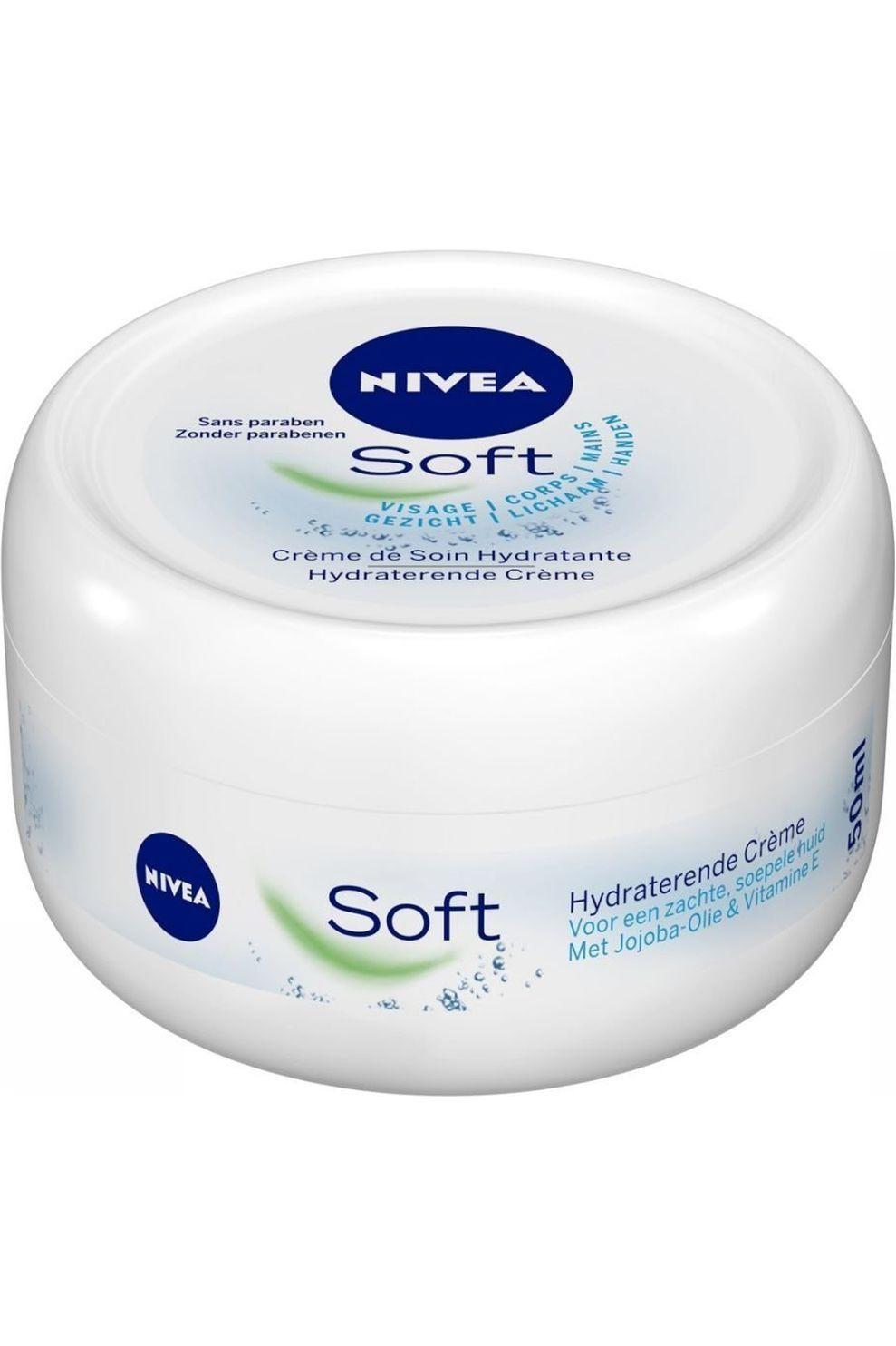 NIVEA Crème Mini Soft 50ML voor dames - - Transparant