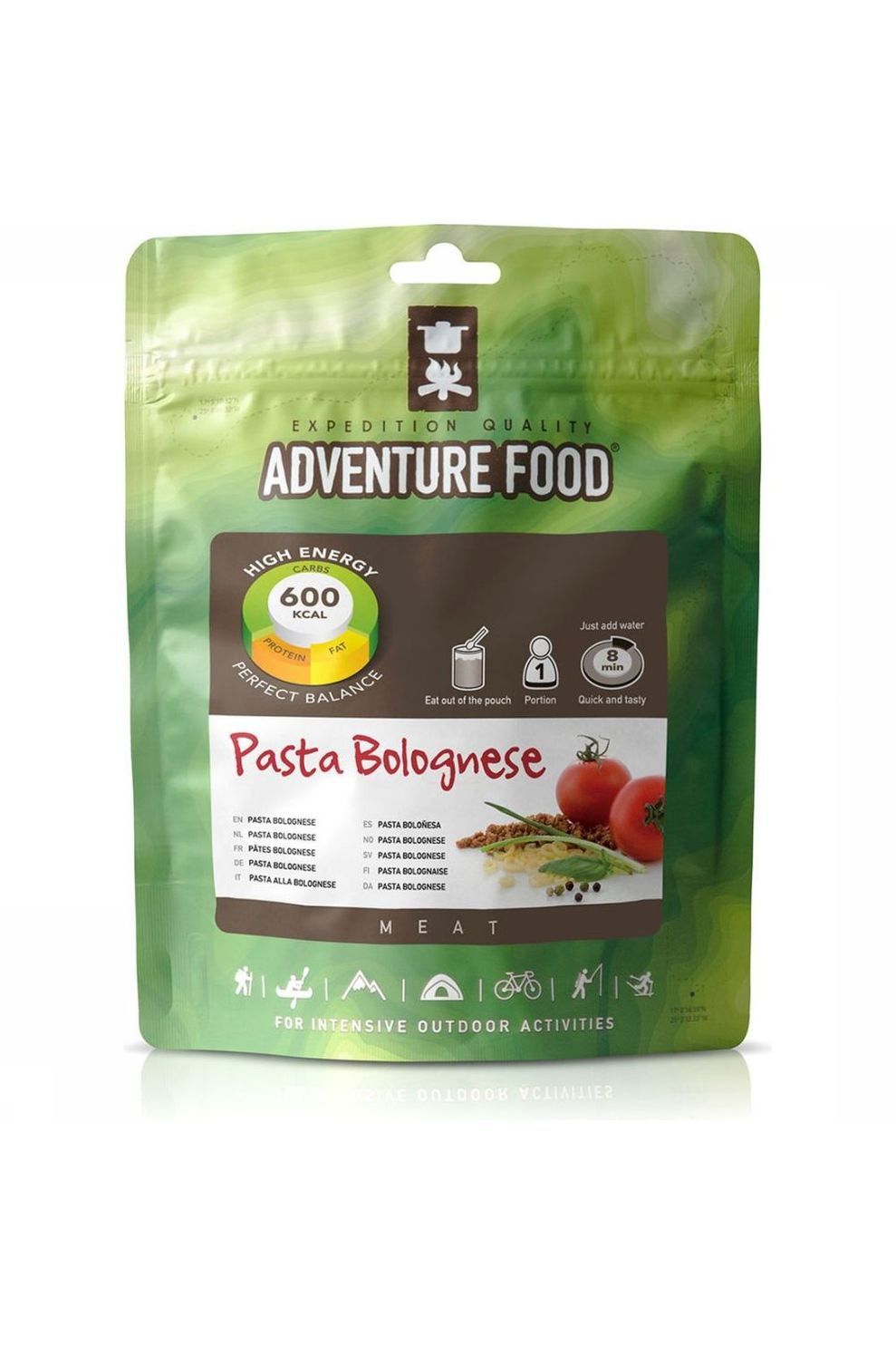 Adventure Food Maaltijd Pasta Bolognese 1P - - Transparant