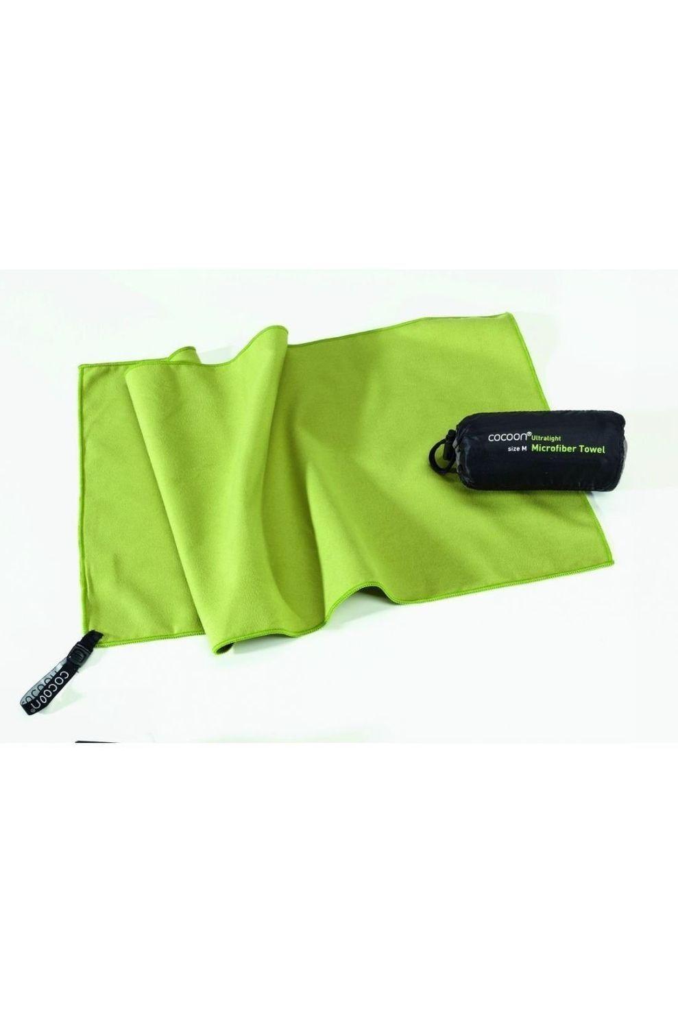 Cocoon Handdoek Towel Ultralight - Groen - Maten: S, M, L, XL