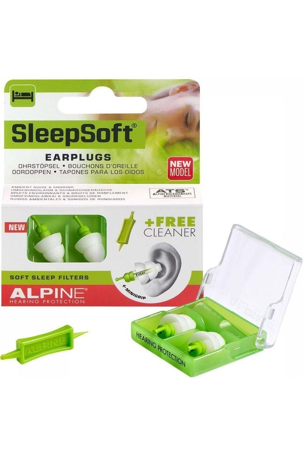 Alpine Oordopjes Sleepsoft Minigrip - Groen/Wit