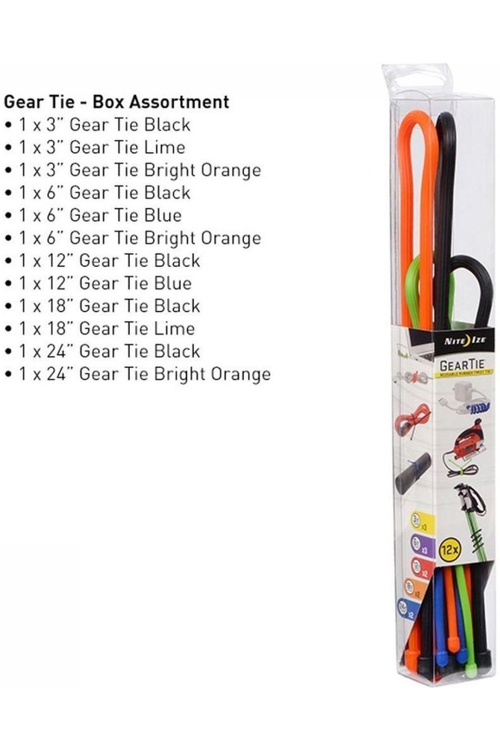 Nite Ize Gear Tie Tube - 12 Pcs - Assorti - Gemengd