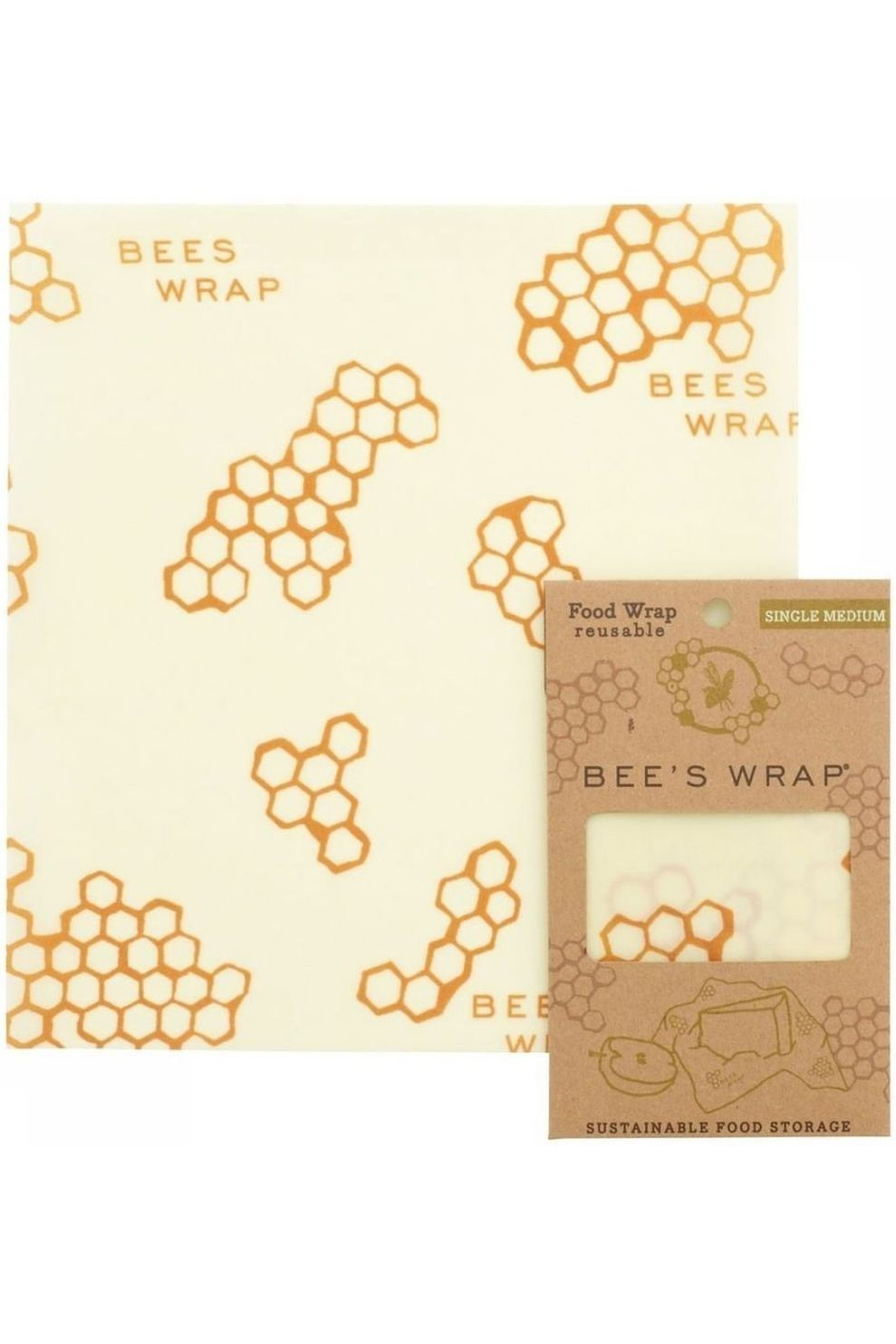 Bee's Wrap Bees Wrap Middenmaat - - Transparant