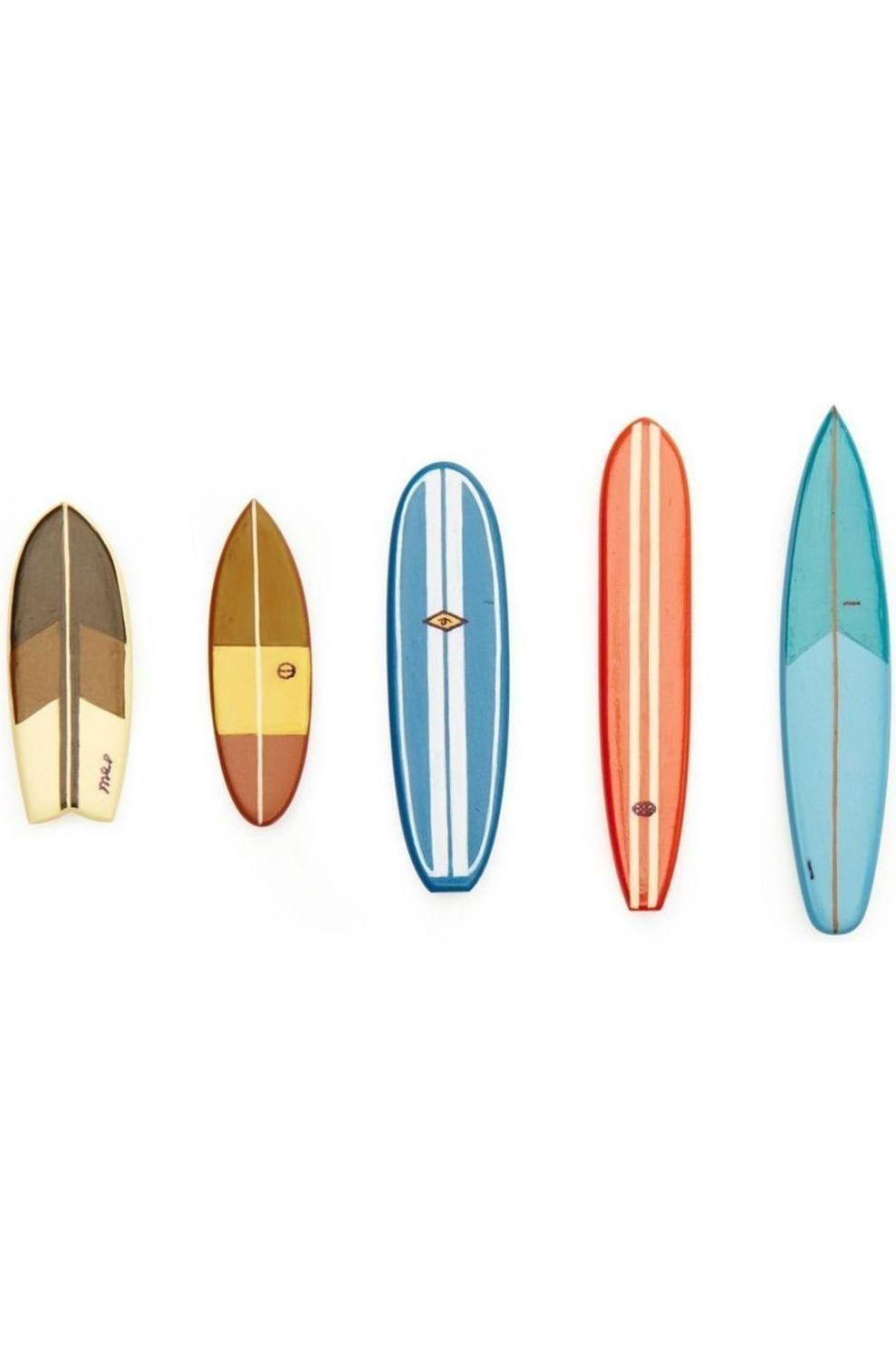 Kikkerland Surf'S Up Magnets - Assorti - Gemengd