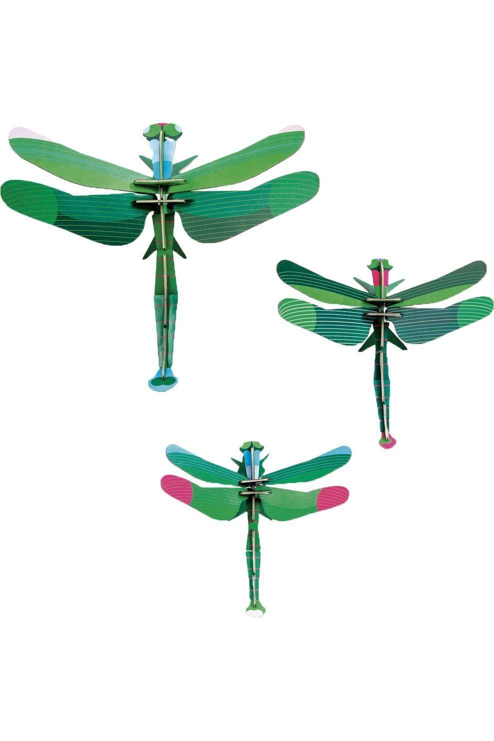 Studio ROOF Dragonflies, set of 3 - Groen