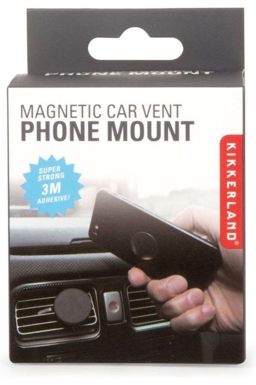 Kikkerland Smarthphone Houder Magnetic Car Vent - Zwart