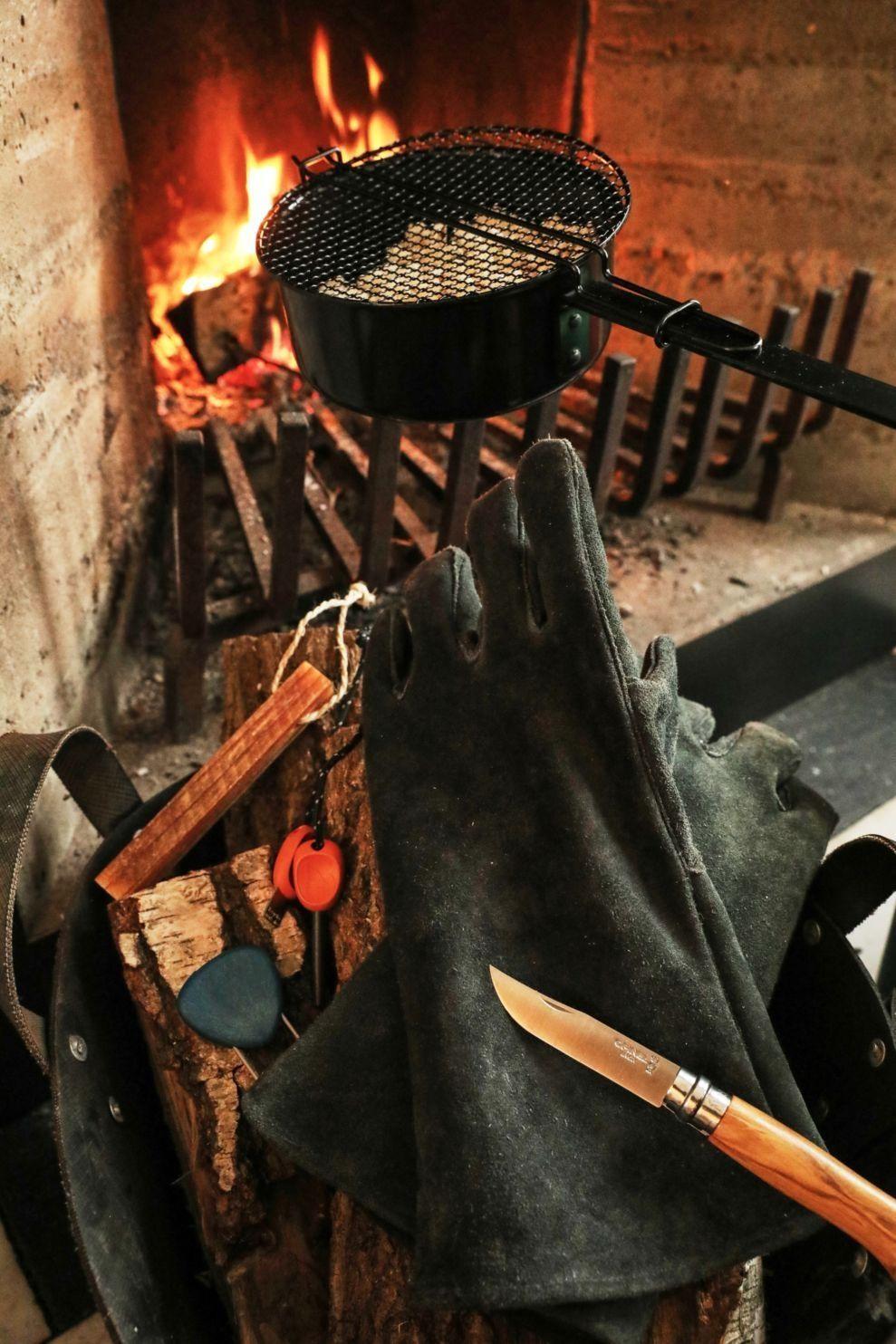 Barebones Living Open Fire Gloves - Grijs