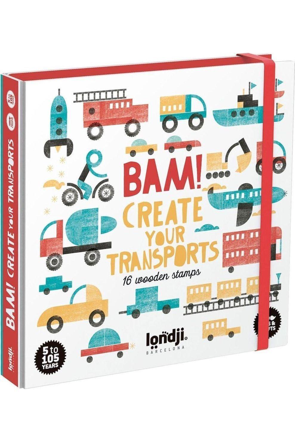 Londji Spel Bam! Create Your Transports voor kids