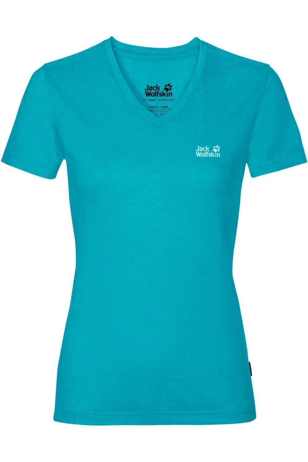 Jack Wolfskin T-Shirt Crosstrail voor dames Blauw Maten: S, M, L, XL