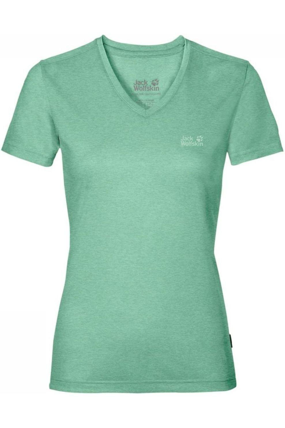 Jack Wolfskin T-Shirt Crosstrail voor dames - Groen - Maten: XS, S, M, L, XL, XXL