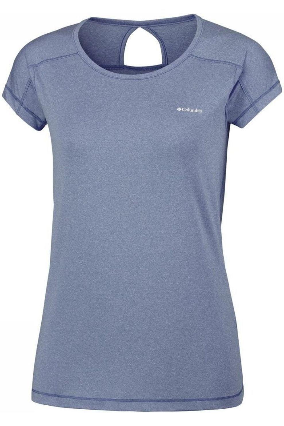 Columbia T-Shirt Peak To Point Sleeve voor dames - Blauw - Maat: M