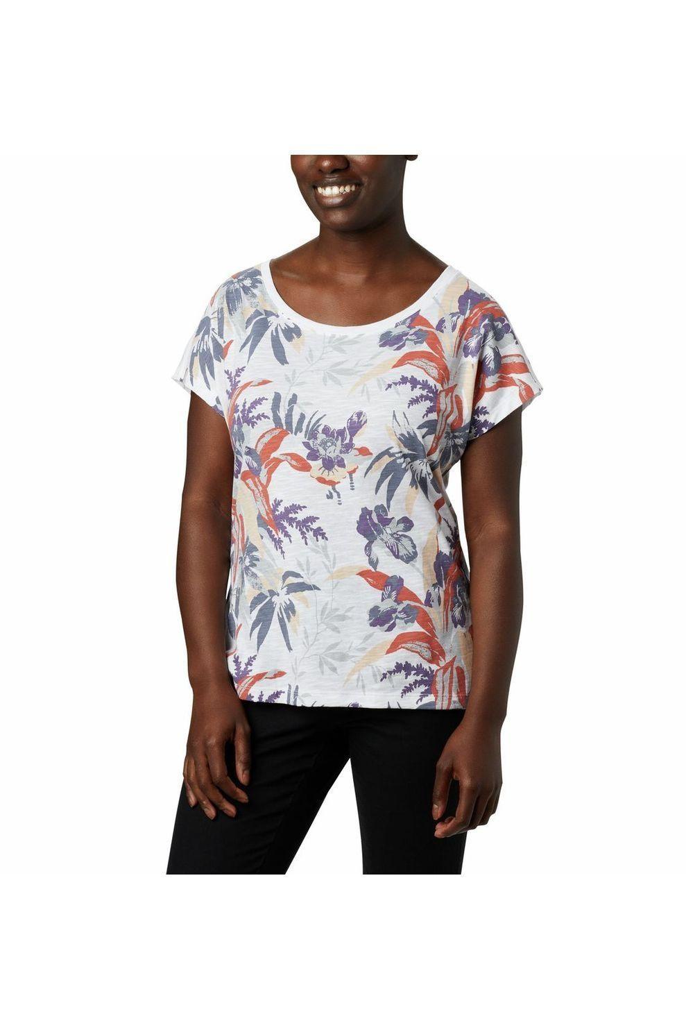 Columbia T-Shirt High Dune voor dames - Wit - Maten: S, M, L, XL