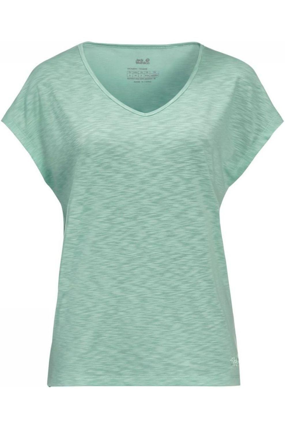 Jack Wolfskin T-Shirt Travel T voor dames - Blauw - Maten: XS, S, M, L, XL, XXL