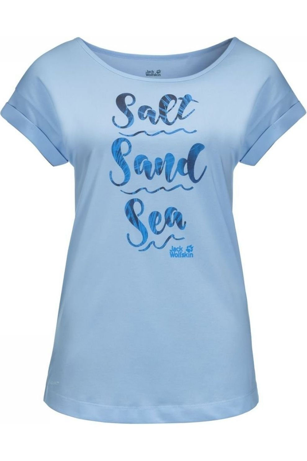 Jack Wolfskin T-Shirt Salt Sand Sea voor dames Blauw Maten: XS, S, M, L, XL, XXL